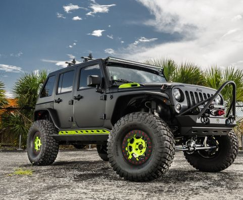Jeep Wrangler Unlimited With Matte Black Off Road Wrap Jeep