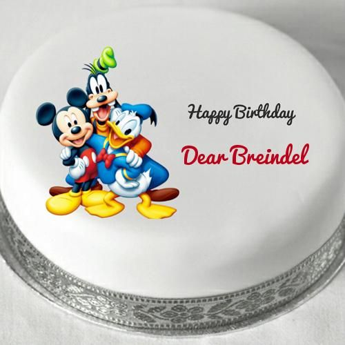 Disney Cartoon Characters Birthday Cake With Name cake Pinterest