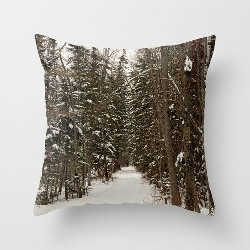 Canadian Winter Decorative Throw Pillow Cover To Accent The Man Cave Sofa White Pillow Covers Pillow Covers Pillows