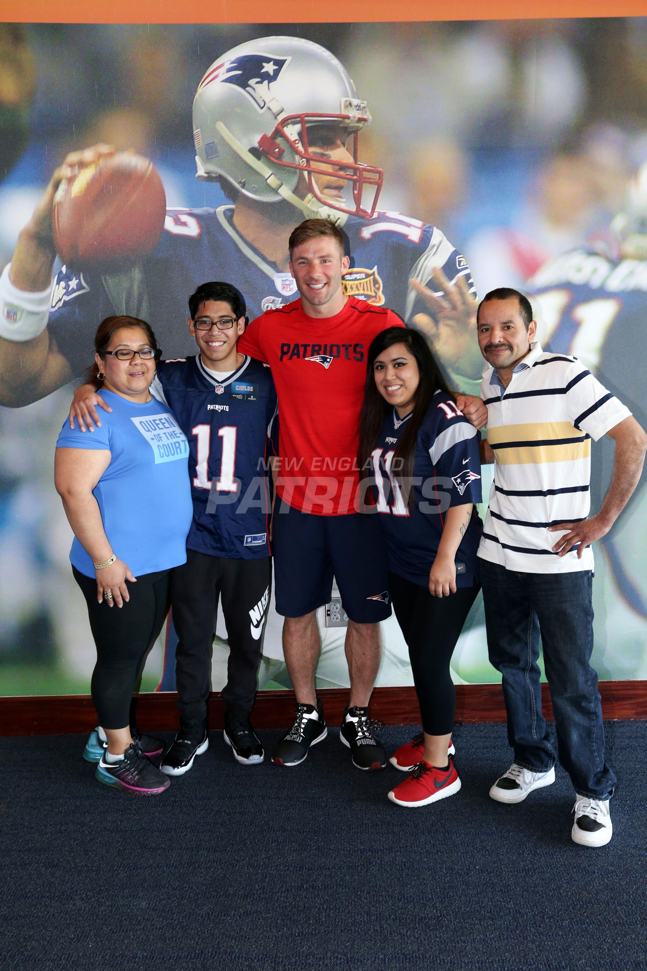 Julian Edelman Makes Wishes Come True New England Patriots Logo Julian Edelman New England Patriots