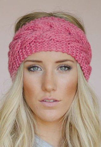 Stylish Crochet Fishtail Shape Solid Color Knitted Headband For ...