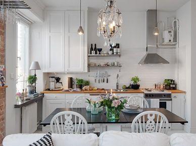 Otwata Kuchnia Z Jadalnia I Salonem W Malym Mieszkaniu 22401 Interior Design Kitchen Kitchen Interior Small Space Kitchen