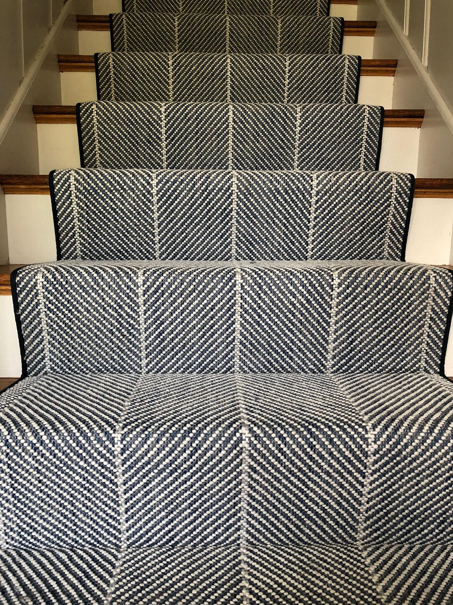 Who Said Indoor Outdoor Carpets Had To Be Boring Our Indoor   Outdoor Carpet For Stairs   Navy Pattern   Artificial Grass   Front Entrance   Heavy Duty   Mosaic