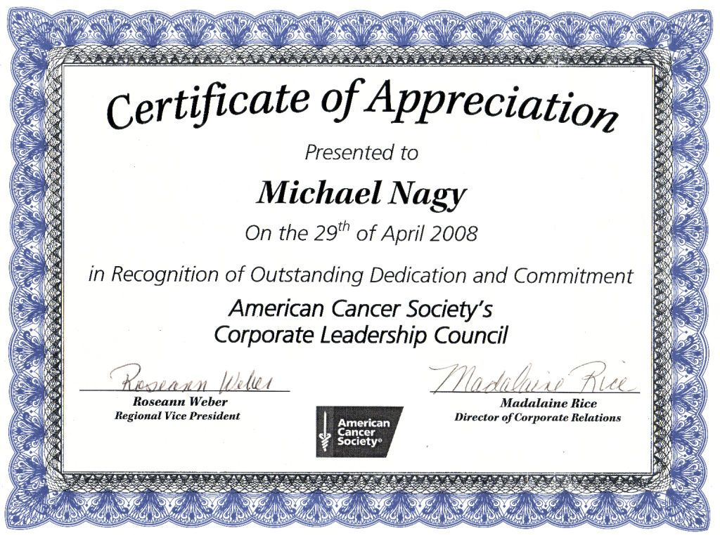 Nice Editable Certificate Of Appreciation Template Example With .
