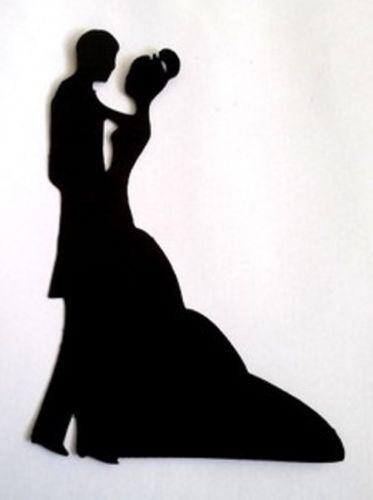 8 x bride groom wedding silhouette die cuts quality black card junglespirit Gallery