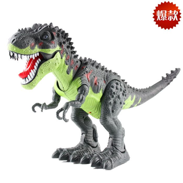 Simulated Dinosaur Electric Walking T-Rex With Sound Light Figures Toys Gift UK