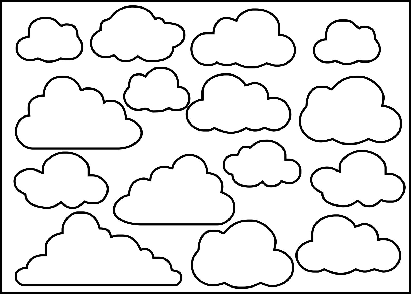 Line Art Clouds : Clouds by nina brackett stencil feltro