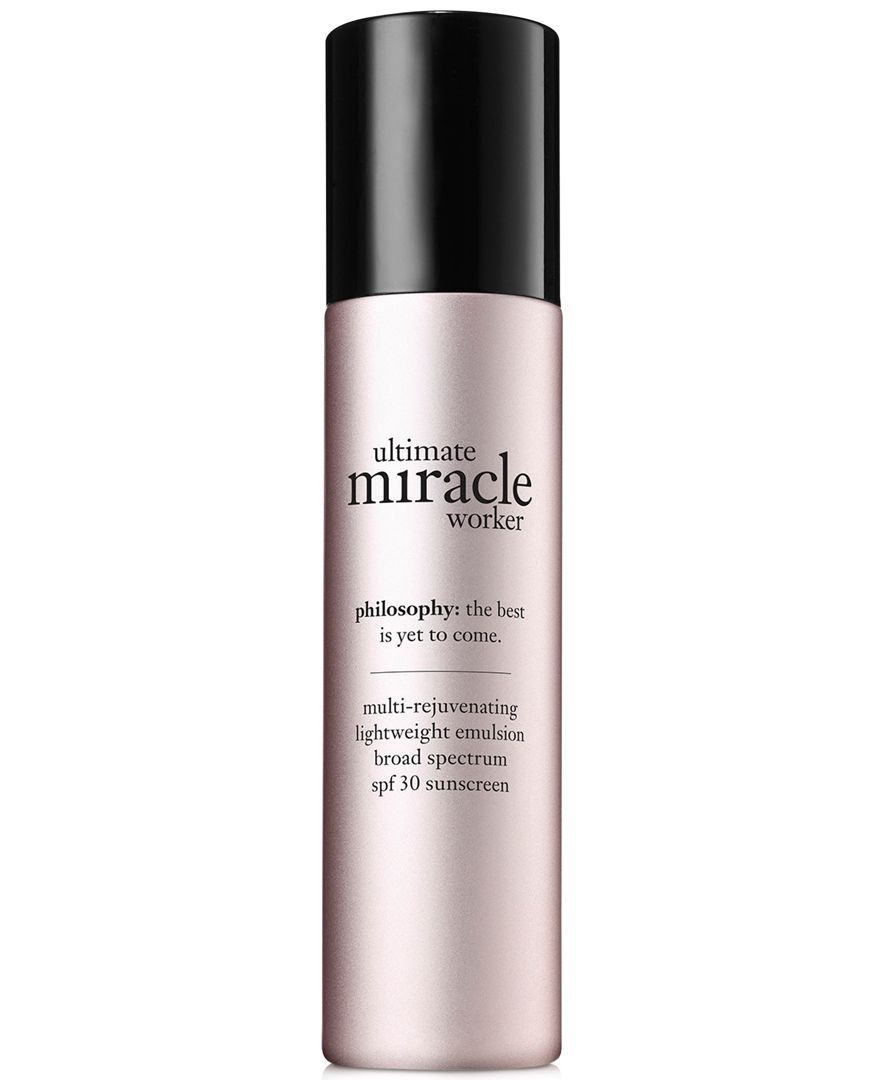 Philosophy Ultimate Miracle Worker Lightweight Emulsion Spf 30 1 5 Oz Skin Care Beauty Macy S Spf 30 Makeup Skin Care Natural Beauty Skincare