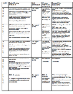 Lesson Plan Template I Like Her Week At A Glance Concept