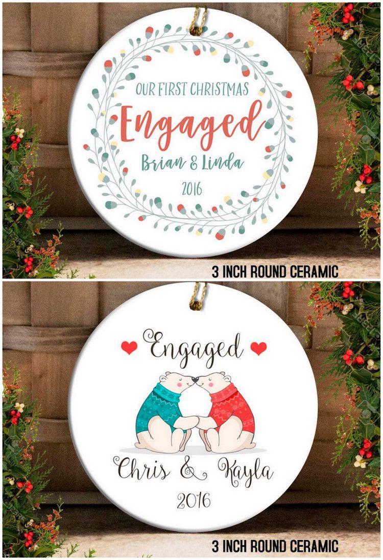 18 Stunning Custom-Made Christmas Engagement Ornament Ideas ...
