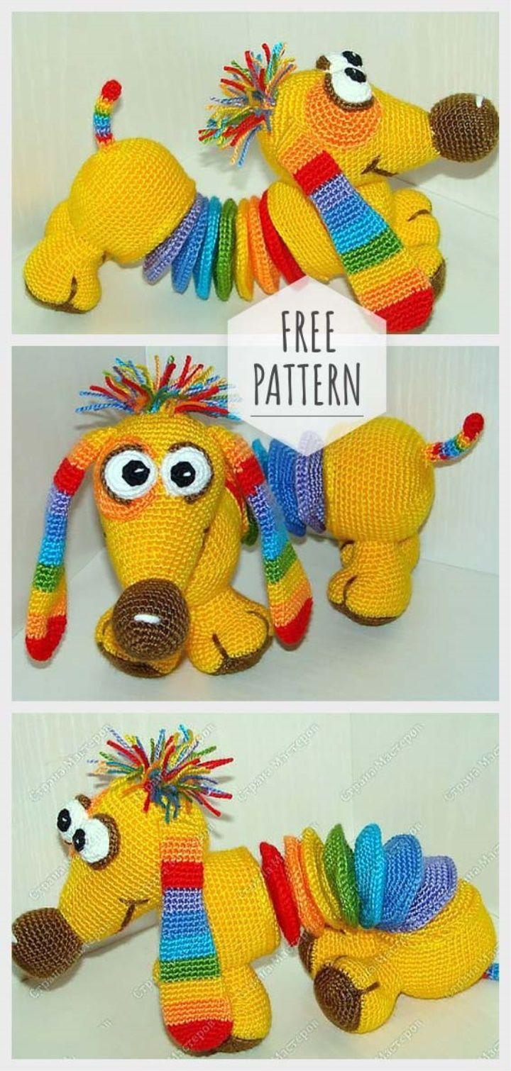 Amigurumi Dachshund Free Pattern #crochetanimalamigurumi