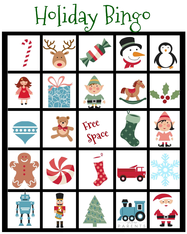 Free Holiday Bingo Printables 2 Versions