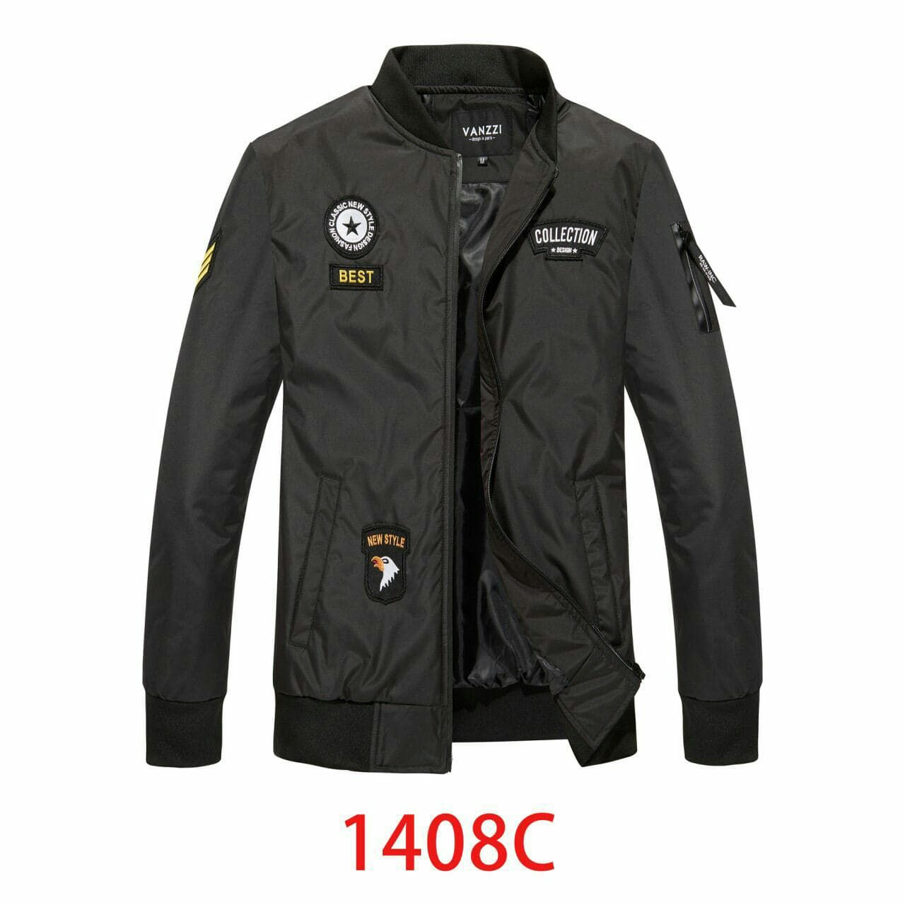 Bomberka Meska Kurtka Wiosenna Czarna 40 M 7211168971 Oficjalne Archiwum Allegro Jackets Fashion Motorcycle Jacket