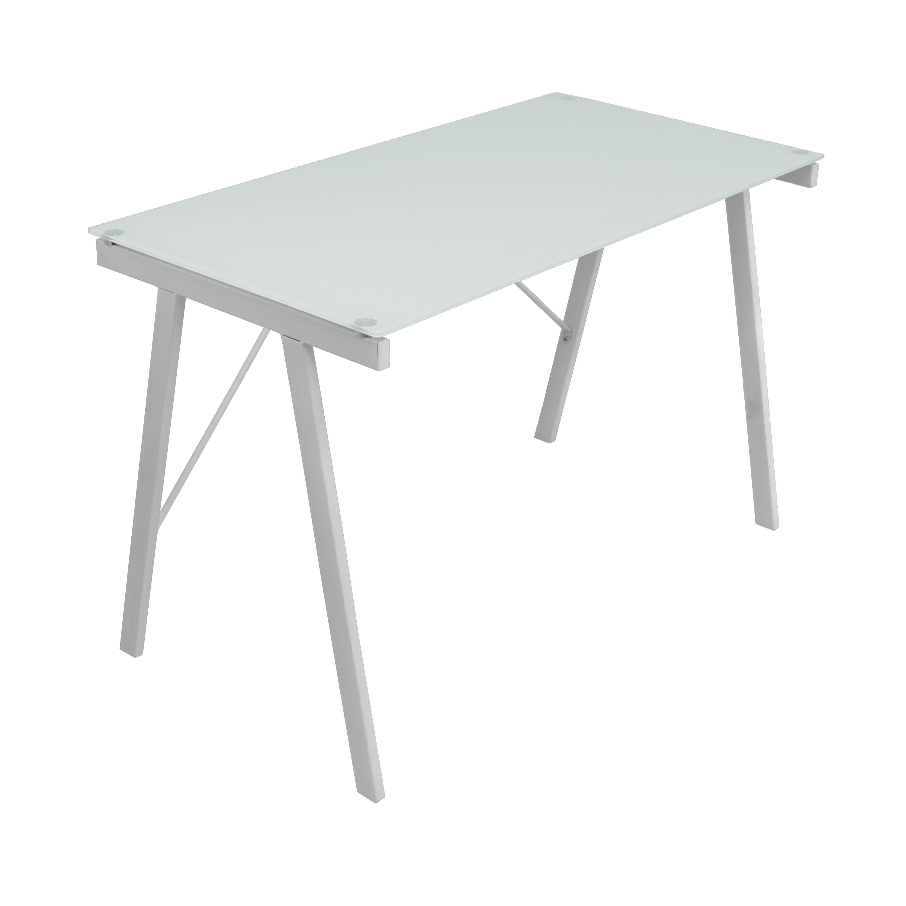 White exponent office desk drafting table by lumisource office
