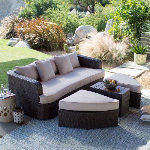 Super Belham Living Wayland All Weather Wicker Sofa Daybed Lamtechconsult Wood Chair Design Ideas Lamtechconsultcom
