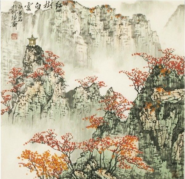 The Beauty Of Nature High Grade Taste Traditional Chinese Landscape Painting Of Charming Autumn Scenery Replica