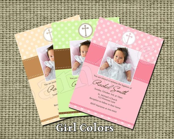 Baptism or #Christening #Invitation with Photo by NorthernDesigns - best of sample invitation of baptism