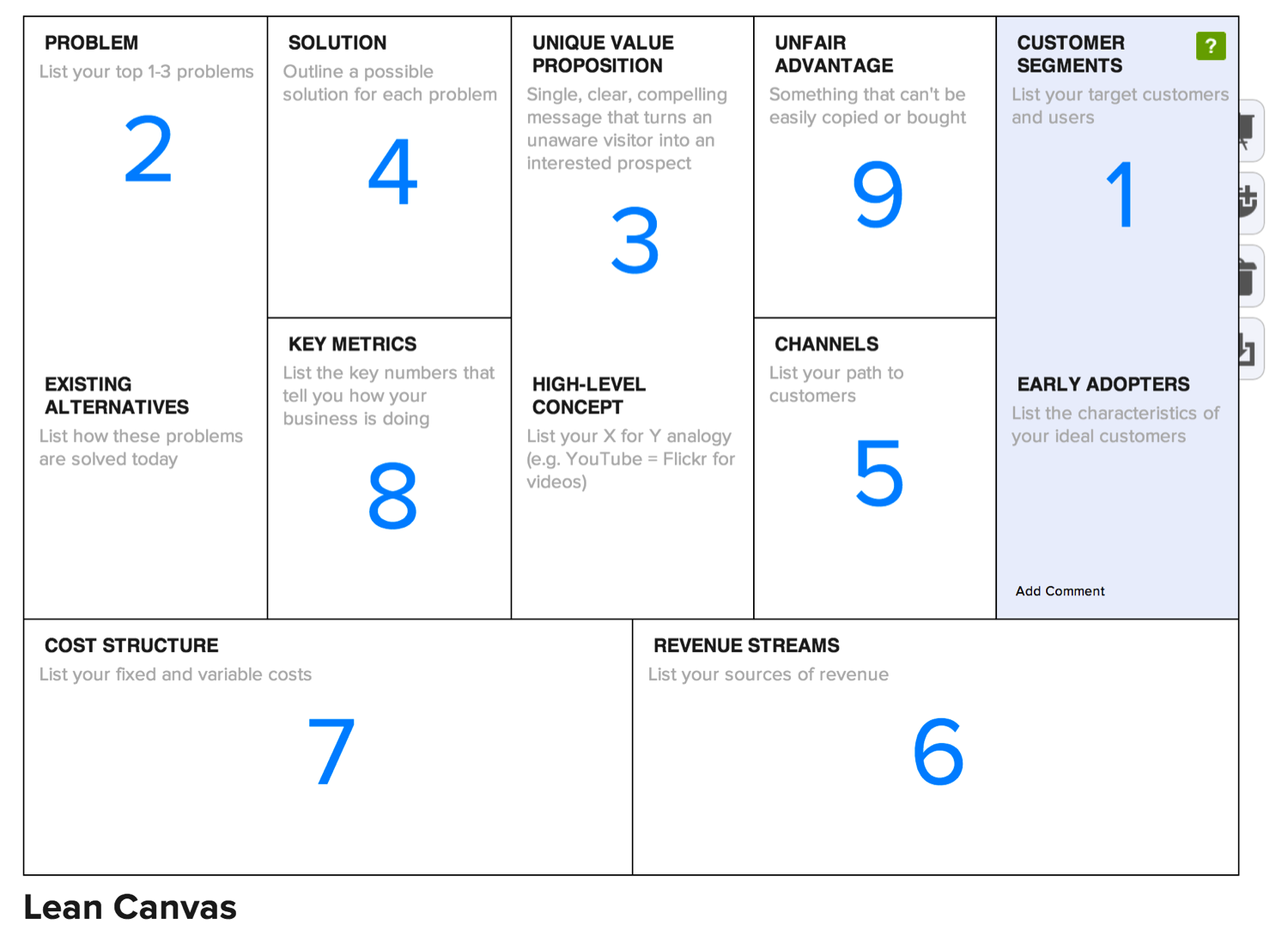Lean Canvas   One page business plan, Business planning, Startup ...
