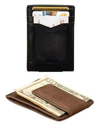 62b2ab8ee21 Fossil Multicard Magnetic Front Pocket Wallet - Mens Men's Wallets - Macy's