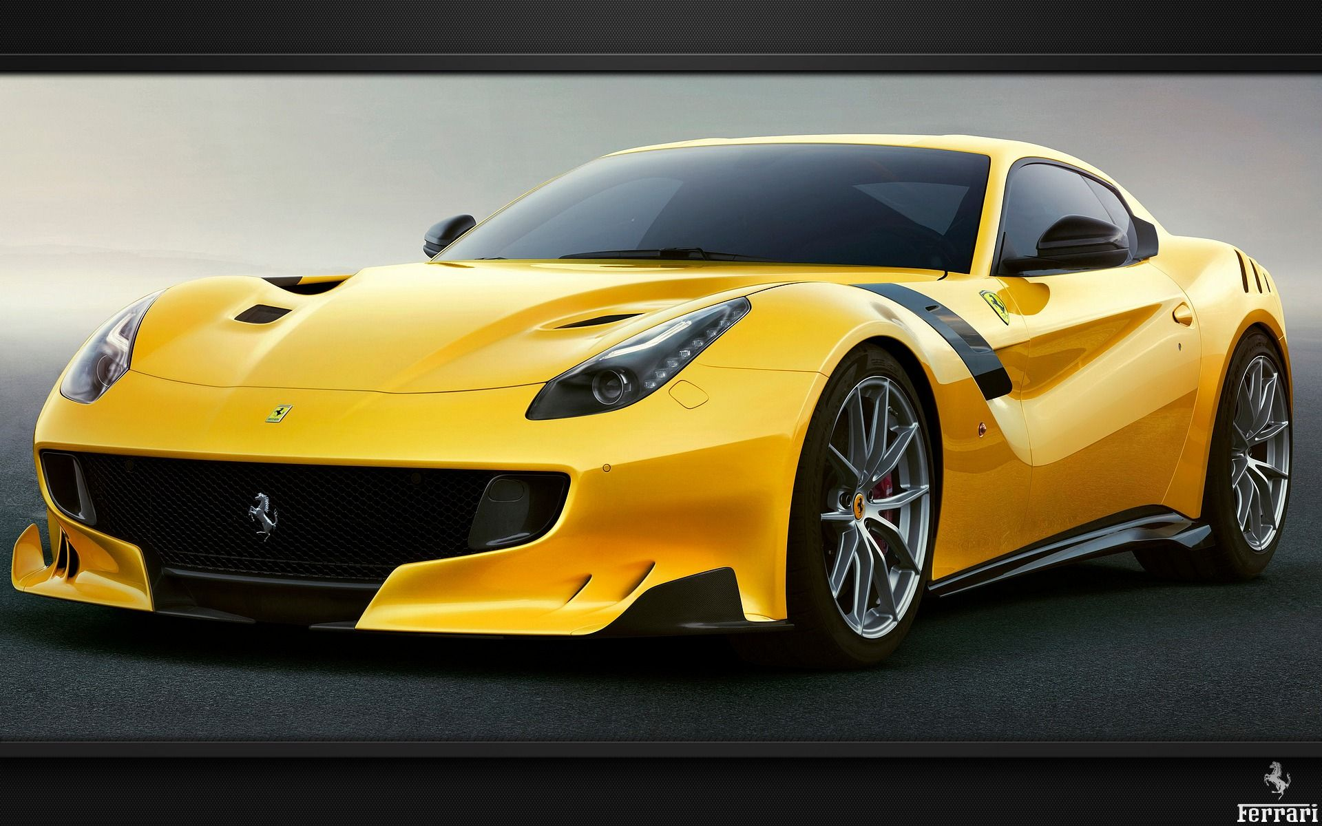 Exceptionnel voiture de sport Ferrari jaune F12-tdf | no1 | Pinterest | Ecran  NJ02