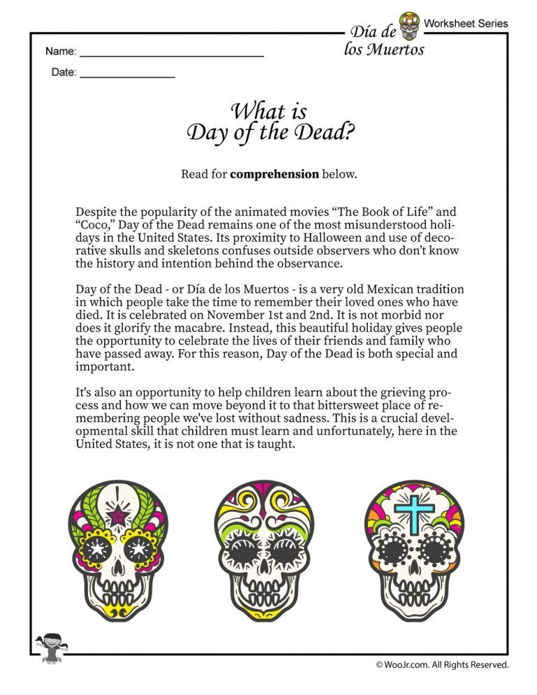 Day Of The Dead Activities Worksheets Lesson Plan With Images