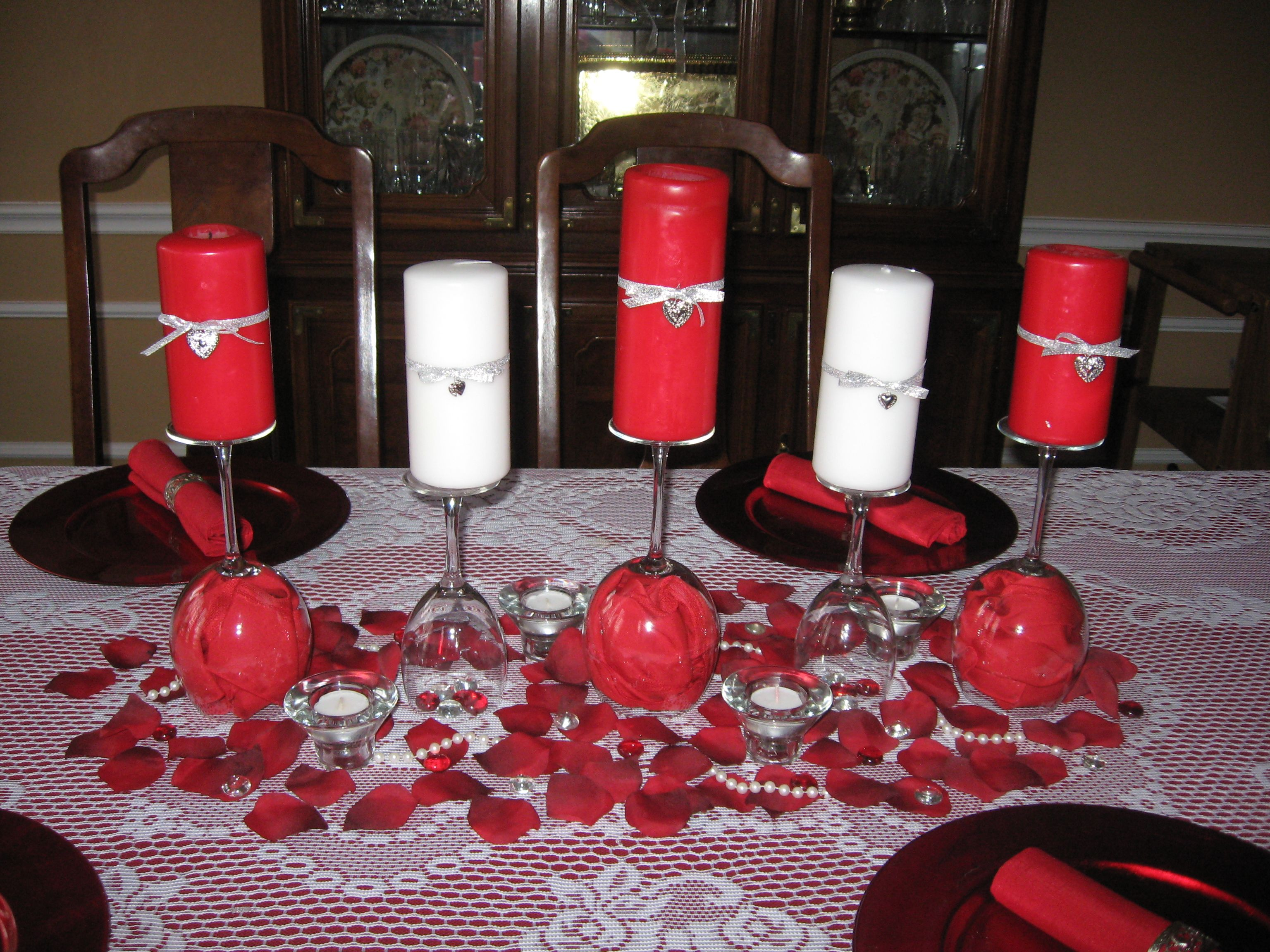 Pin By Kristin Skaggs On Valentines Day Wine Glass Candle Holder Wine Glass Candle Christmas Candle Decorations