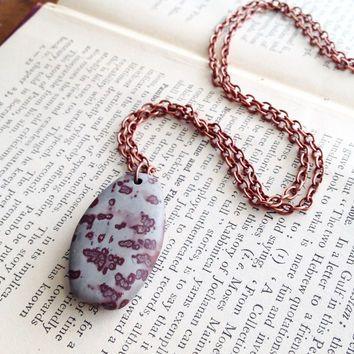 Chohua Jasper Necklace on a Copper Chain