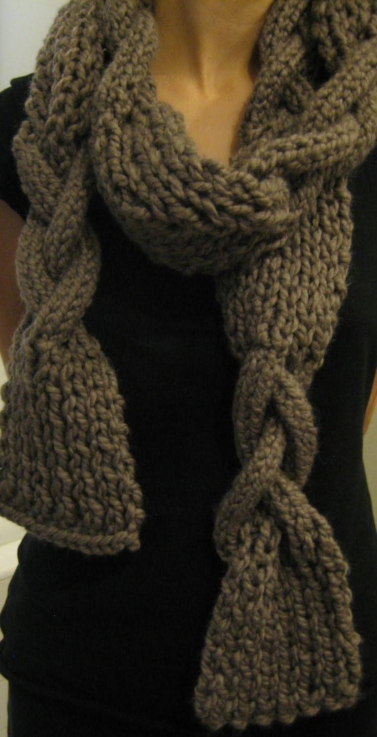 tricoter une echarpe originale