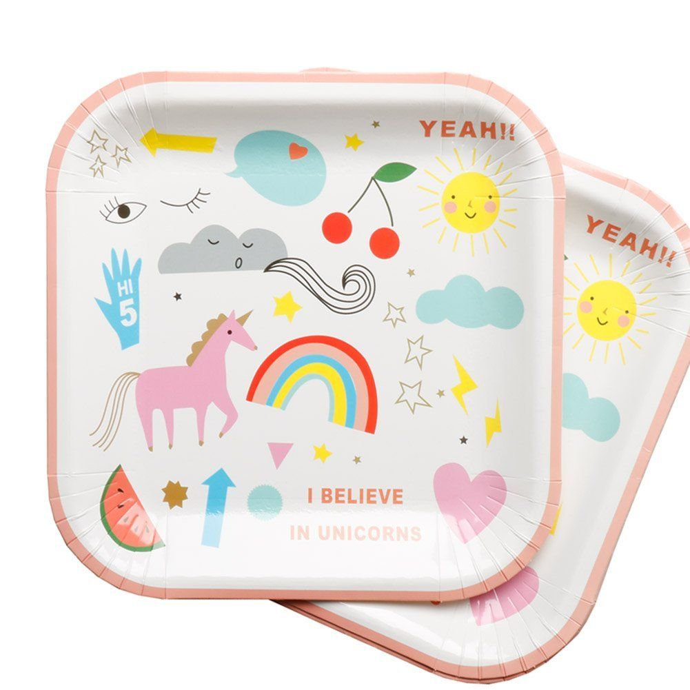 AmazonSmile Unicorn Birthday Party Supplies SetBibiParty Rainbow Unicorn Tableware Set for 10  sc 1 st  Pinterest & AmazonSmile: Unicorn Birthday Party Supplies SetBibiParty Rainbow ...