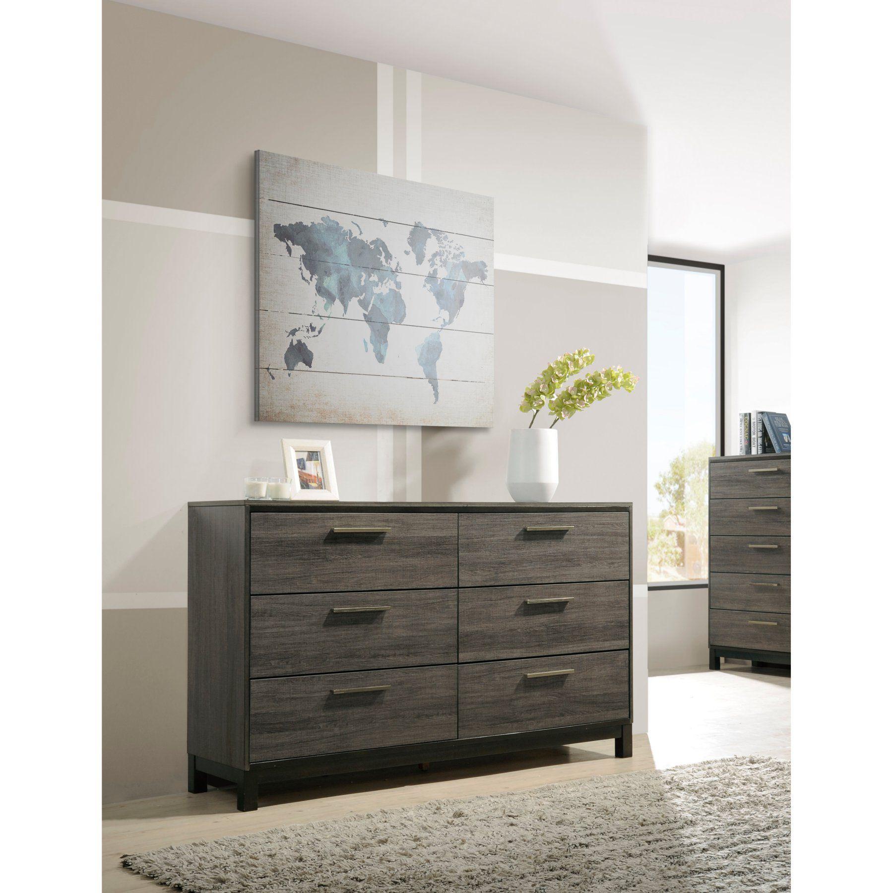 Roundhill Furniture Ioana 6 Drawer Dresser - B187D ...