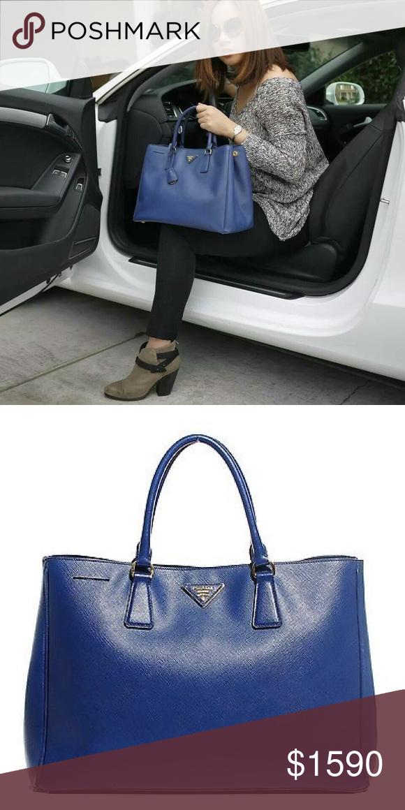 363a57860be Prada Saffiano Lux Tote Large, Royal Blue NWT   My Posh Closet ...