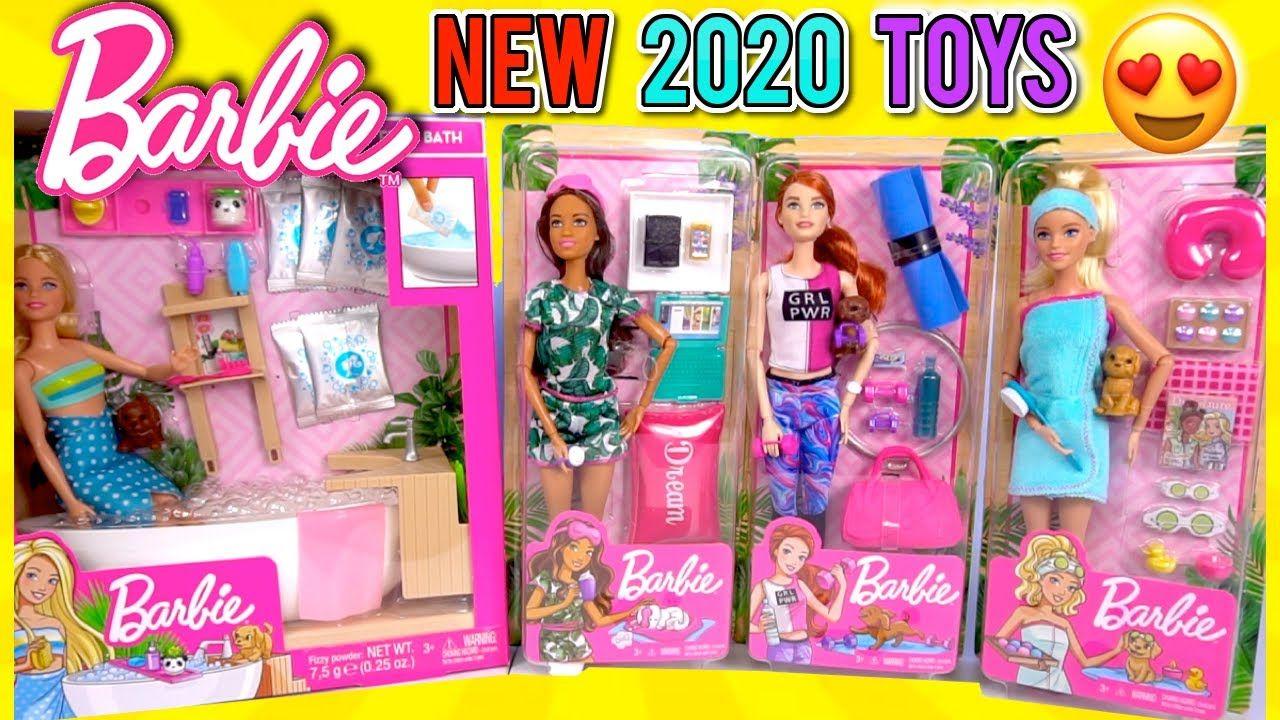 New Barbie 2020 Toys Doll Spa Pink Fizzy Bathtub And Night Routine Barbie In 2020 Barbie Playsets Barbie Sets Barbie Kids
