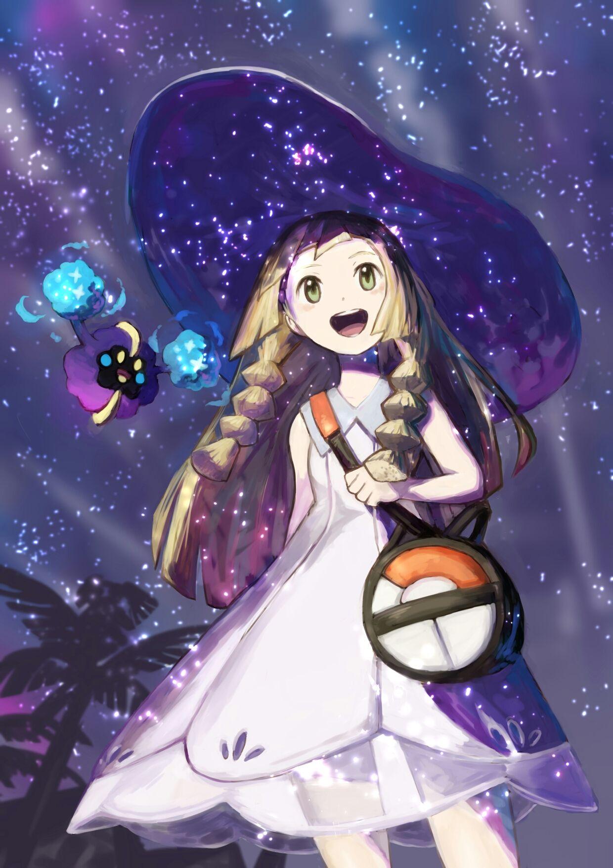 Artist: Pixiv Id 15871673 | Pokémon Sun & Moon | Cosmog | Lillie