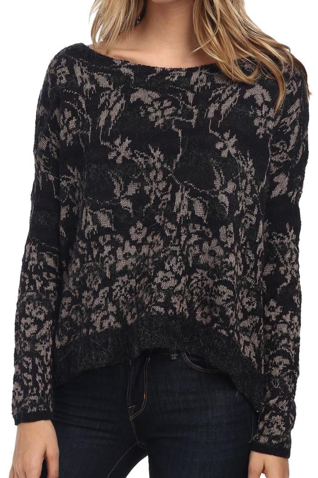 569446f80c2 Shirts. Black floral fields wool-blend sweater with tan floral design