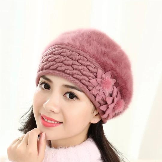 Neue Ankunft Anti-Cold Beanies Weibliche Winter Beanie Hüte Kaninchenfell Krieg …   – Skullies & Beanies