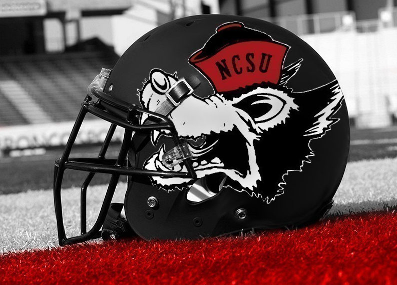 This Tuffy Helmet Is Really Neat One Of Our Favorite Nc State Logos Nc State Football Nc State Wolfpack Nc State Wolfpack Football