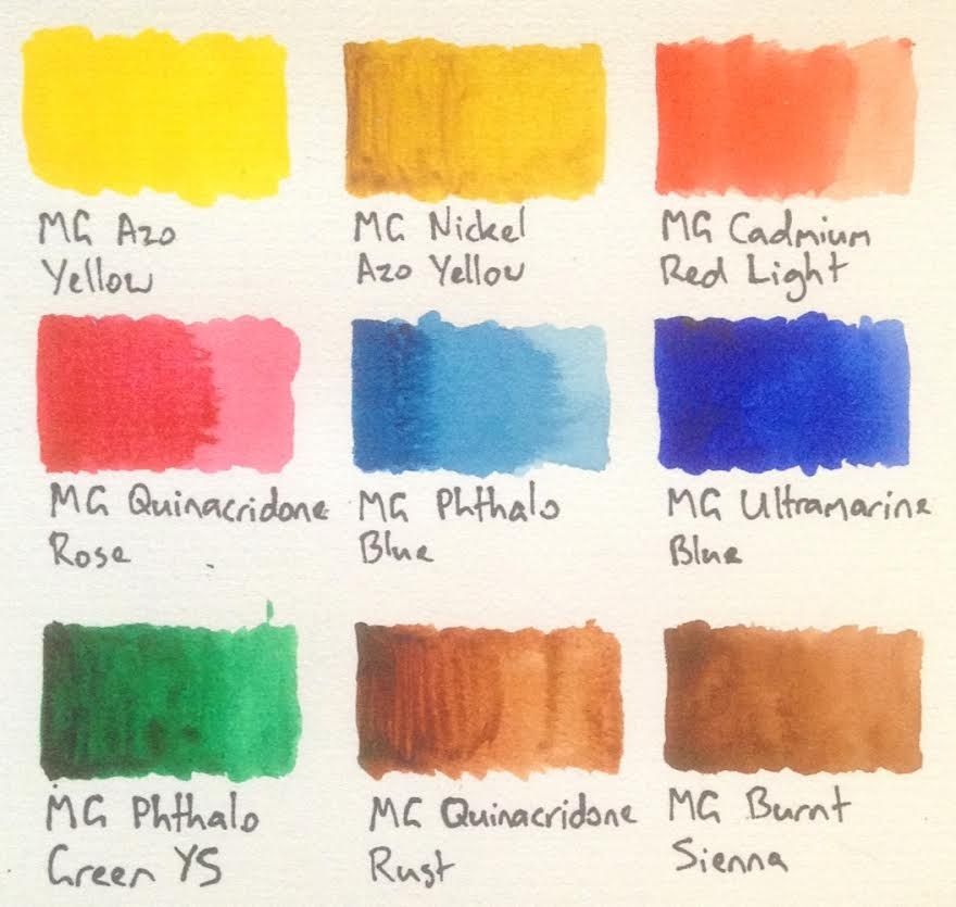 Watercolours M Graham Watercolours Review Color Mixing
