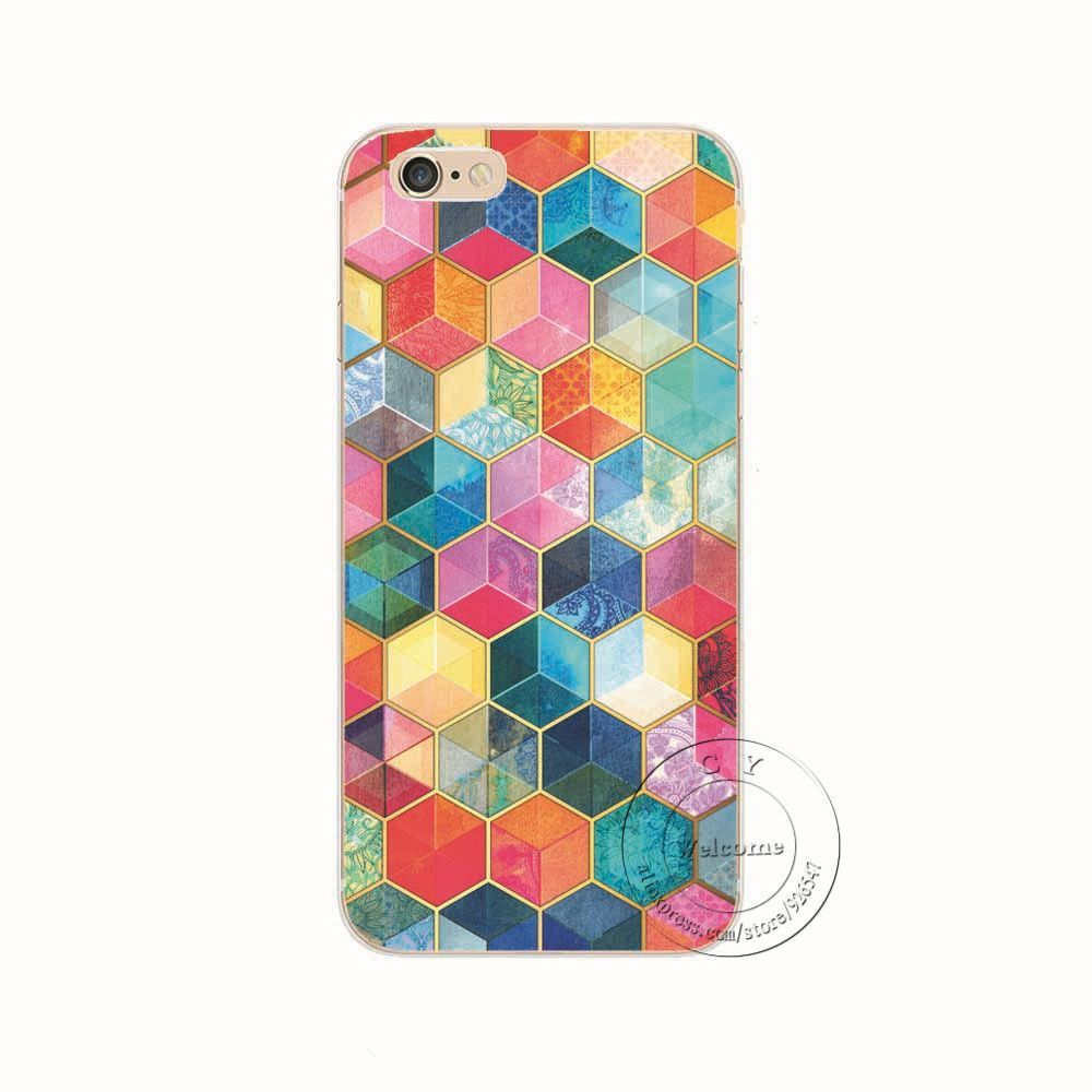 Shell For Apple iPhone 5 5S SE 5C 6 6S 7 Plus 6SPlus Back Case Cover Printing Mandala Flower Datura Floral Cell Phone Cases