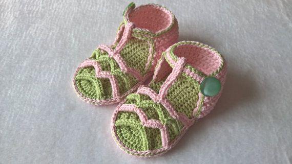 Crochet Baby Sandals Pattern Summer Striped Sandals Instant