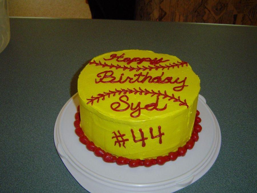 Wondrous Softball Cake Designs 900Px With Images Softball Birthday Personalised Birthday Cards Paralily Jamesorg