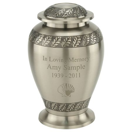 Pewter Leaves Urn for Ashes | Silver & Pewter Cremation Urns