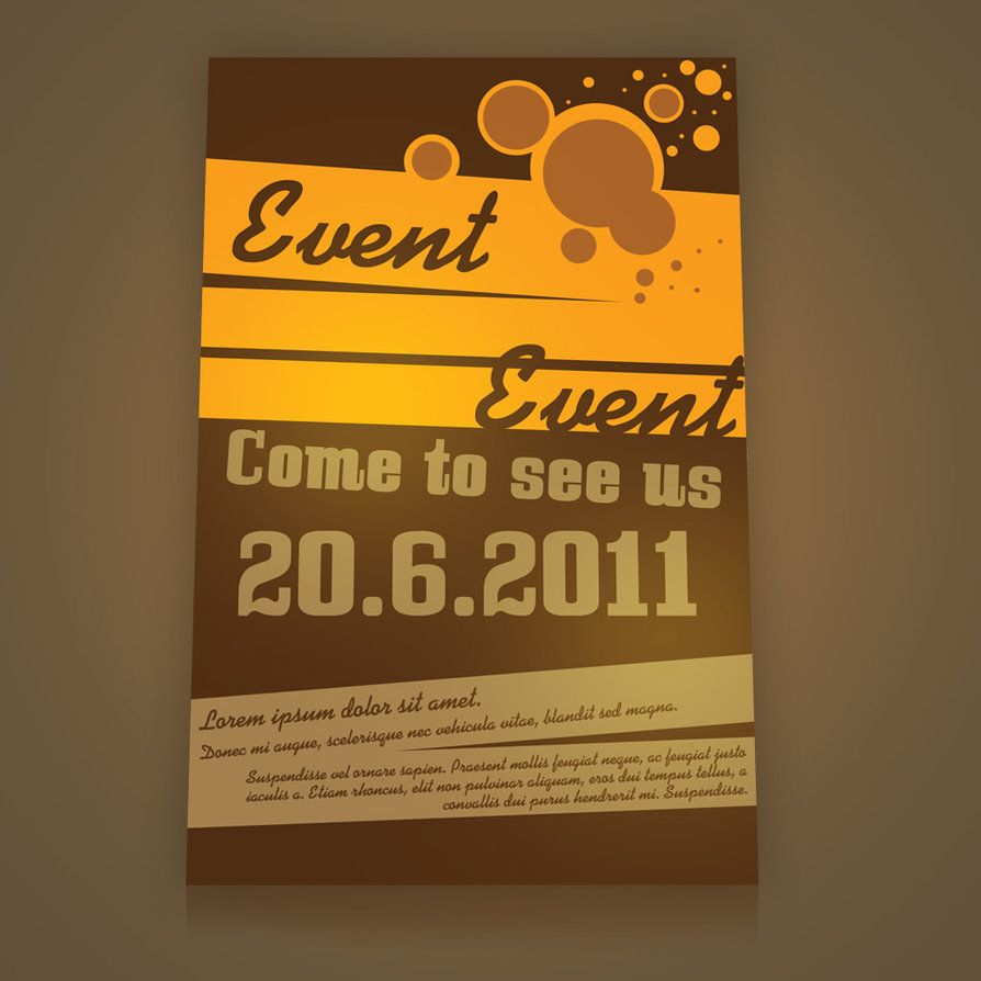 event flyer ideas