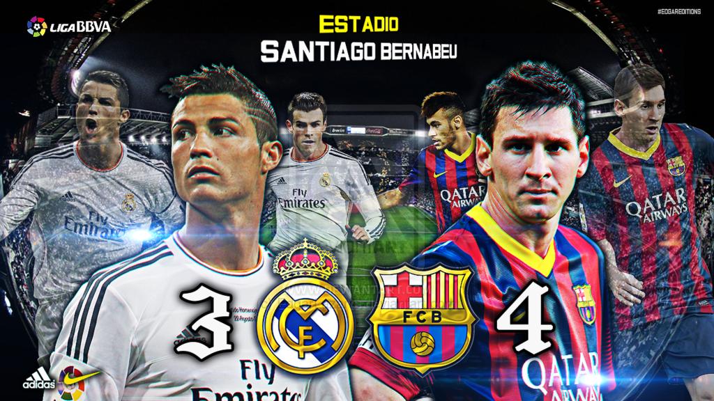 Real Madrid Vs Barcelona Custom Wallpaper Hd By Edgarlazarte On Deviantart Real Madrid Custom Wallpaper Madrid