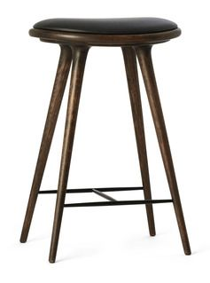 Mater Sirka Grey Stained Oak Stool High Stool Bar Stools