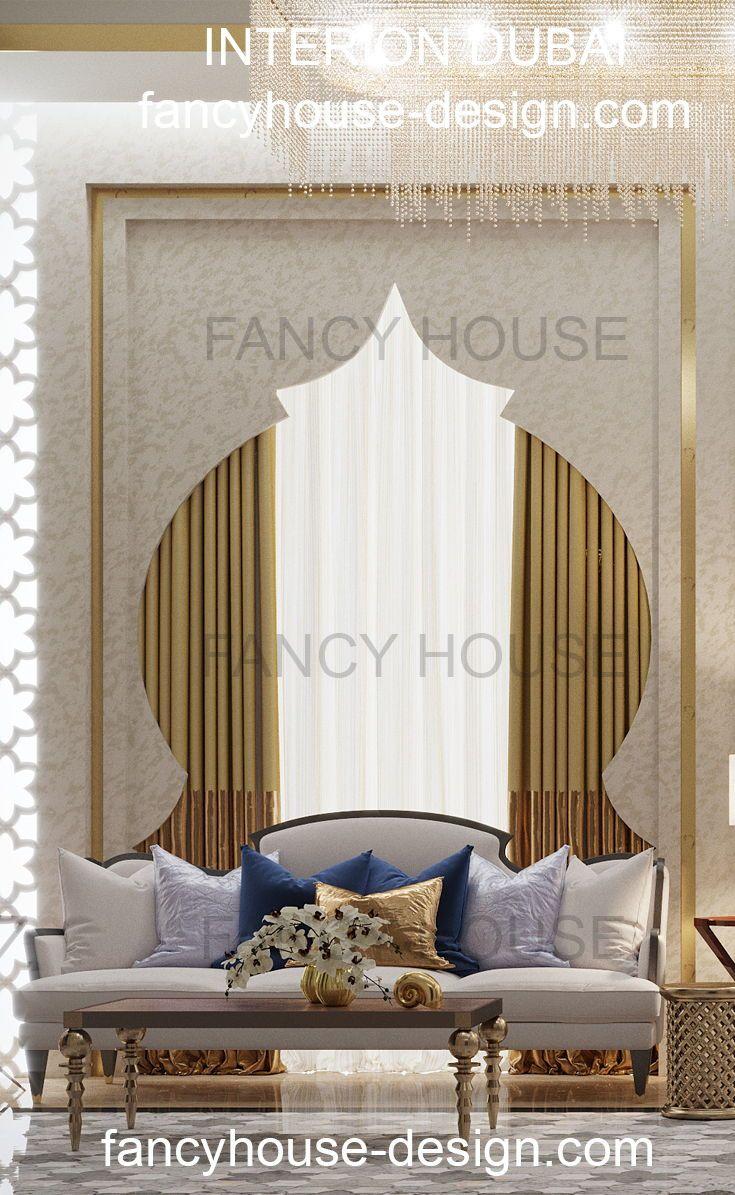Luxury modern moroccan living room interior design. More interior ...