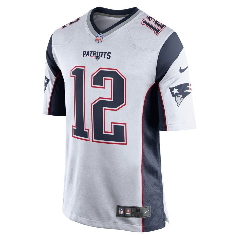 baf1def16 NFL New England Patriots (Tom Brady) Men s American Football Away Game  Jersey - White