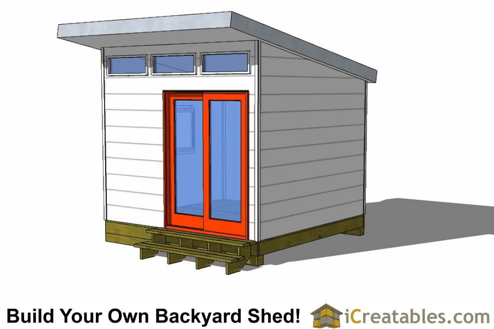 10x10 Studio Shed Plans 10x10 Office Shed Plans Modern Shed Shed Design Modern Shed 10x10 Shed Plans