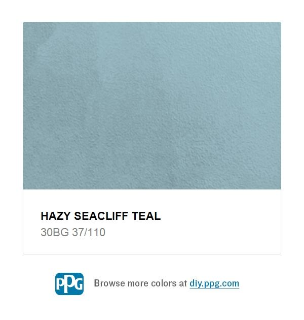 Hazy Seacliff Teal 30bg 37 110 Paint Colors Blue Gray