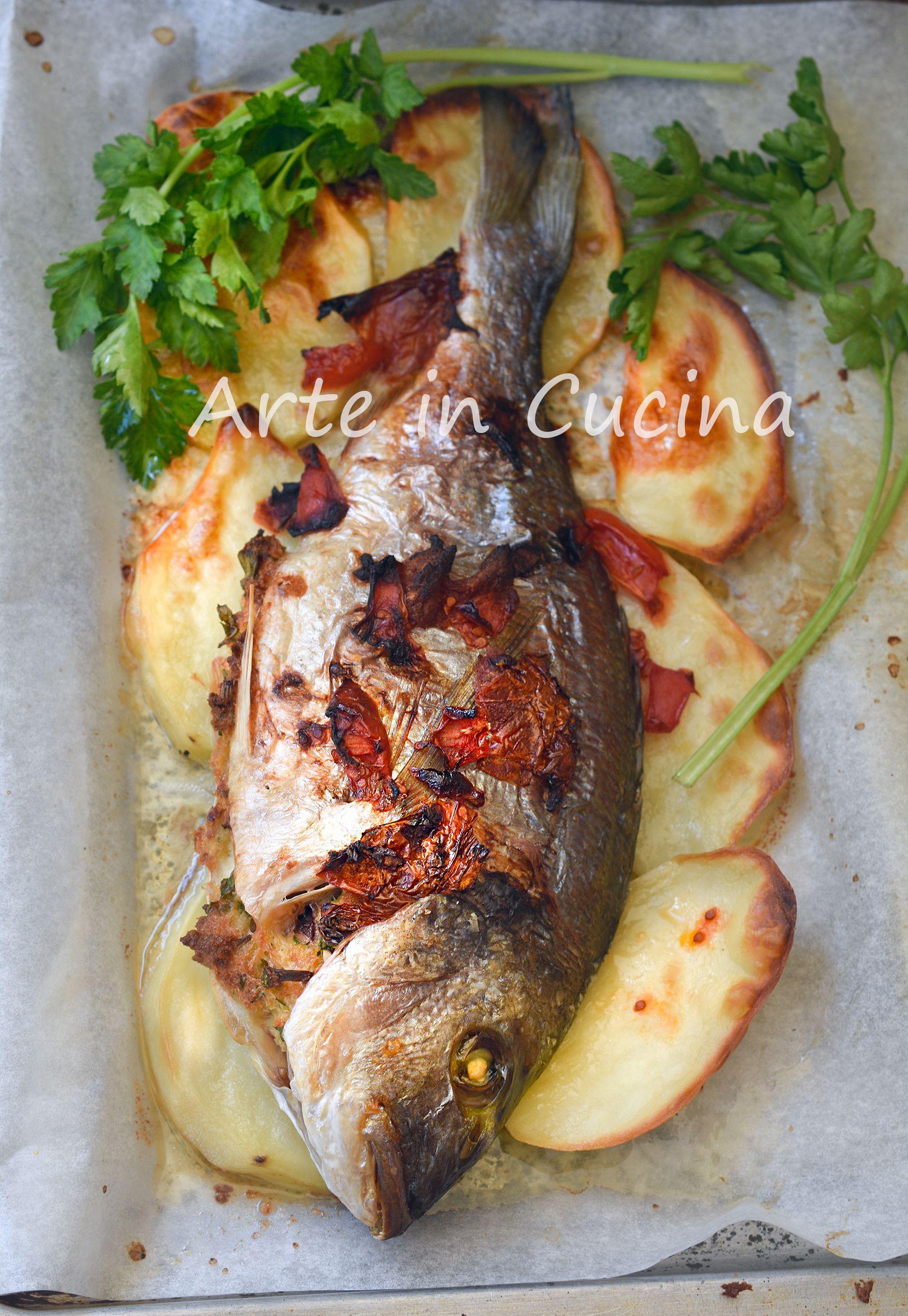 Ricetta Orata Di Benedetta Rossi.Orata Ripiena Al Forno Con Patate Secondo Di Pesce Gustoso Cucinare Il Pesce Ricette Idee Alimentari
