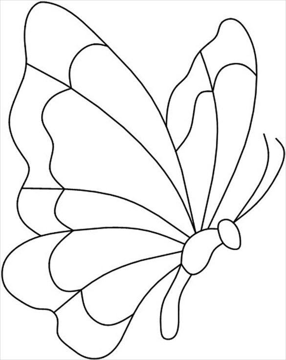 30 butterfly templates printable crafts colouring pages free premium templates - Butterfly Template Free